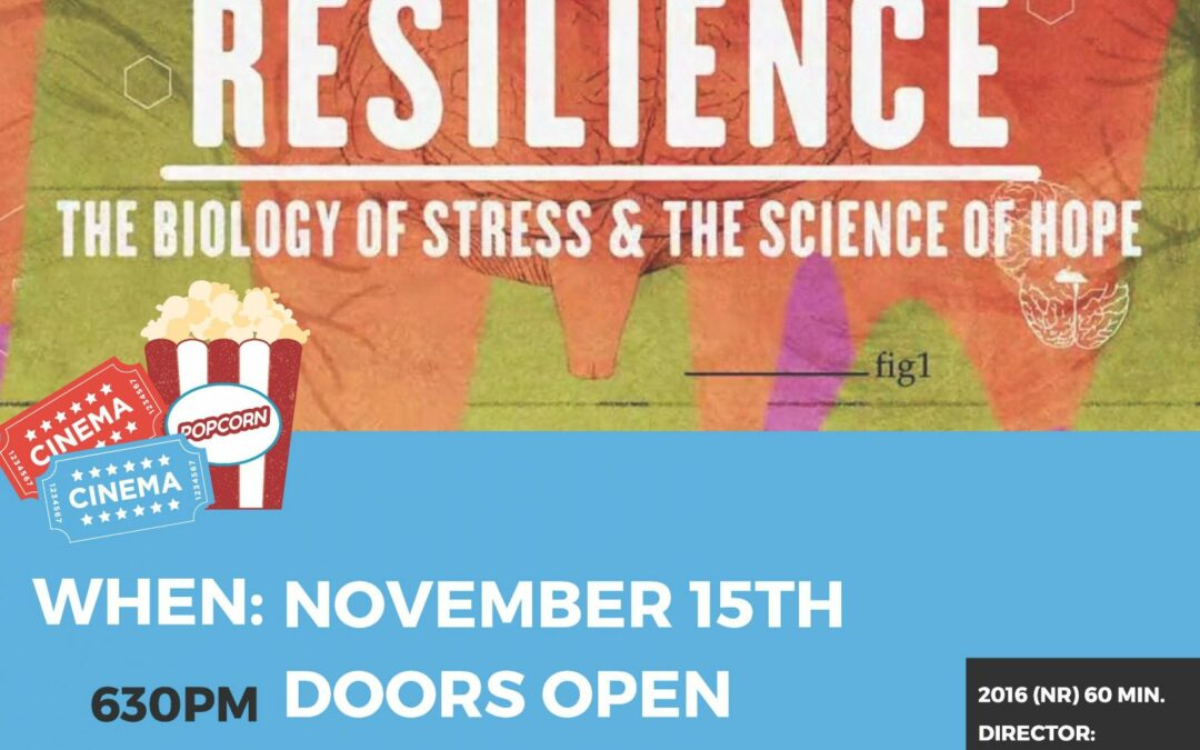 Resilience:  The Biology of Stress & The Science of Hope – 11/15/18  6:30 pm