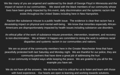 Makin' It Happen's Statement on the Death of George Floyd and Community Unrest