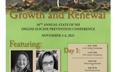 Still, Time to Register for the 18th Annual New Hampshire Suicide Prevention Conference on November 3-4, 2021